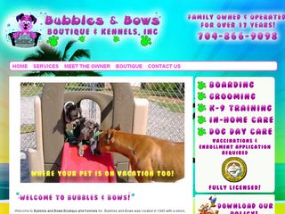 Bubbles Bows Boutique and Dog Kennels Gastonia