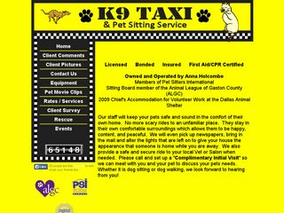 K9 Taxi Pet Sitting | Boarding
