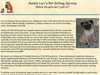 Auntie Loris Pet Sitting Service | Boarding