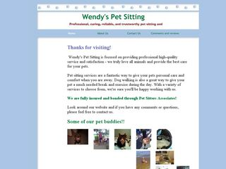 Wendys Pet Sitting Glen Burnie