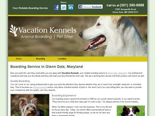Vacation Kennels Glenn Dale