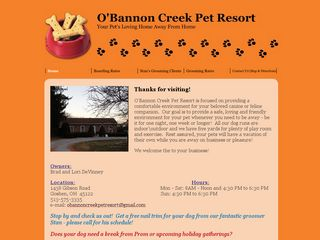 Obannon Creek Boarding Kennel Goshen