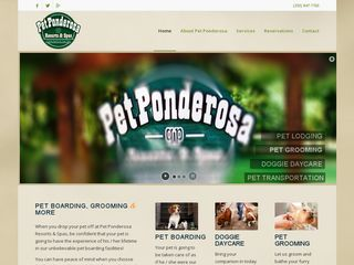 Pet Ponderosa Resorts  Spas | Boarding