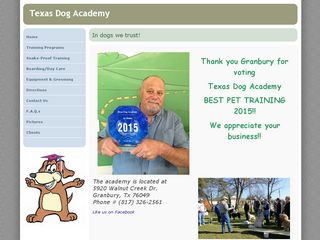 Texas Dog Academy | Boarding