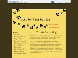 Just For Paws Pet Spa | Boarding