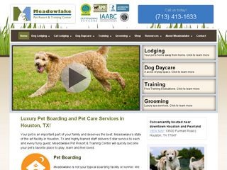 Meadowlake Pet Resort & Training Center | Boarding