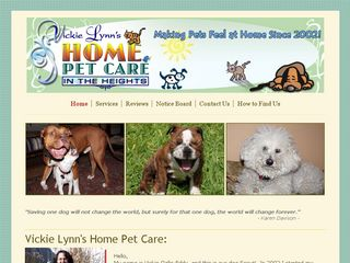 Vickie Lynns Home Pet Care | Boarding