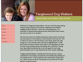 Tanglewood Dog Walkers Houston