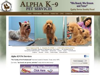 ALPHA K 9 PET SERVICES Houston