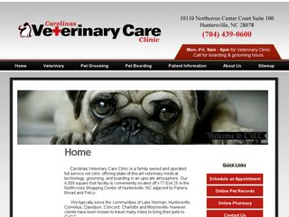 Carolinas Veterinary Care Clinic Huntersville