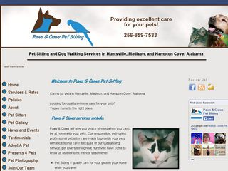 Paws   Claws Pet Sitting Huntsville