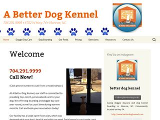 A Better Dog Kennel Indian Trail