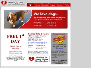 Karens K9 Care | Boarding