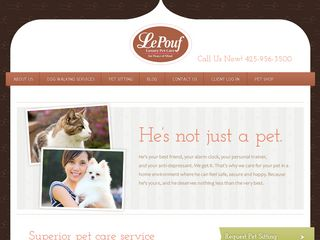 Le Pouf Luxury Pet Care Kirkland