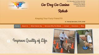 Go Dog Go Canine Rehabilitation Kirkland