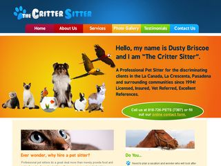 The Critter Sitter | Boarding