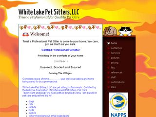 White Lake Pet Sitters | Boarding