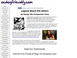 Dawg Ma Companion Care Laguna Beach