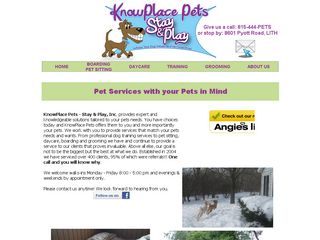 Knowplace Pets   Stay & Play Incorporated Lake In The Hill