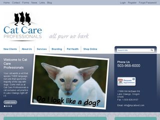 Cornwell Theresa A Cat Care Professionals | Boarding