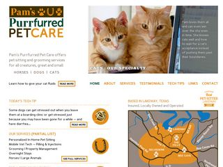 Pams Purrfurred Pet Care | Boarding
