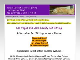Tender Care Pet and House Sitting Service Las Vegas