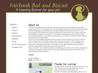 Fairbank Bed and Biscuit | Boarding