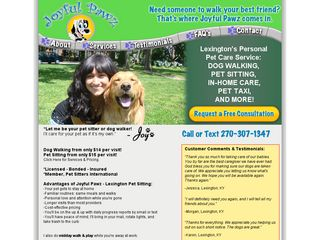 Hughes Joy   Joyful Pawz Dog Walking & Pet Sitting Lexington