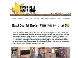 Rising Star Pet Ranch | Boarding