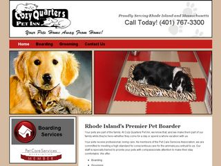 Cozy Quarters Pet Inn | Boarding