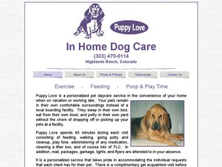 Puppy Love In Home Dog Care Littleton
