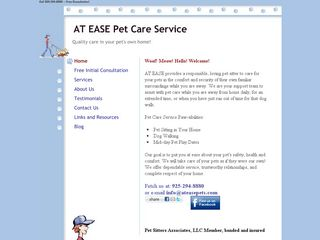 At Ease Pet Care Service | Boarding