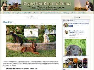 Country Club Kennels  Training | Boarding