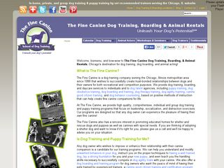The Fine Canine Dog Training & Animal Rentals | Boarding