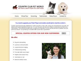 Country Club Pet World | Boarding