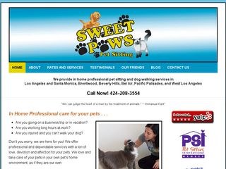 Sweet Paws Pet Sitting Los Angeles
