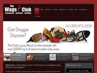 The wags club for Dog kennels los angeles