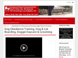 Hollywood Dog Training School | Boarding