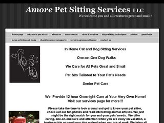 Amore Pet Sitting Services | Boarding