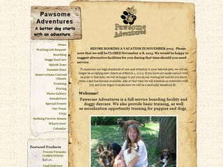 Pawsome Adventures Dog Facility | Boarding