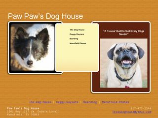 Paw Paws Dog House | Boarding