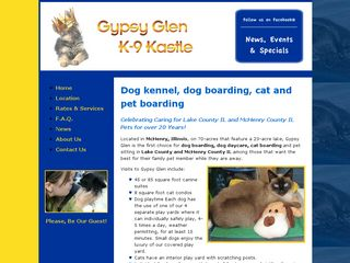 Gypsy Glen K 9 Kastle | Boarding