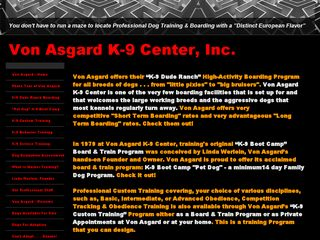 Von Asgard K 9 Center | Boarding