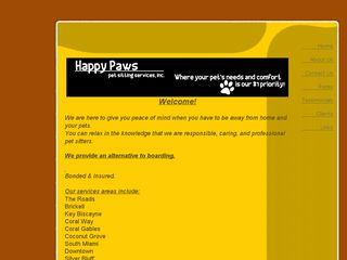 Happy Paws Pet Sitting Services Inc Miami