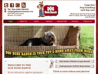 Dog Dude Ranch of Miami | Boarding