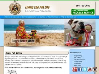 Living the Pet Life Professional Pet Sitting Miami Beach