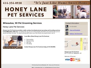 Honey Lane Pet Services Milwaukee