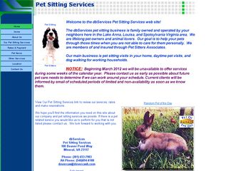 db Services pet sitting Mineral