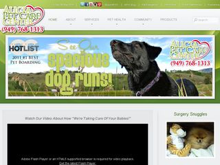 Alicia Pet Care Center | Boarding