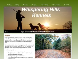 Whispering Hills Kennels | Boarding